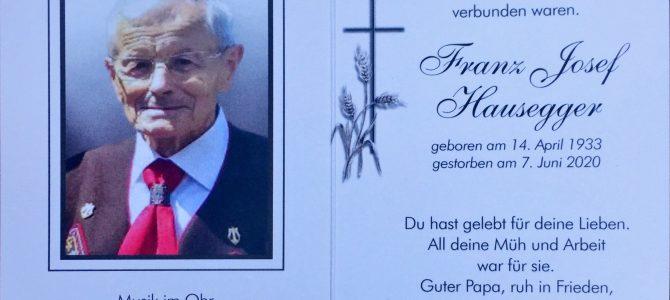Begräbnis Franz-Josef Hausegger